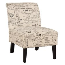 Linen Script Lily Side Chair