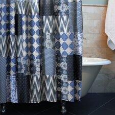 Santorini Patchwork Shower Curtain