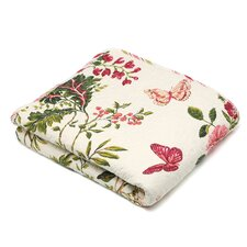 Butterfly Quilted Cotton Throw Blanket