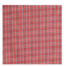 Red Plaid and Green Black Lines Napkin (Set of 16)