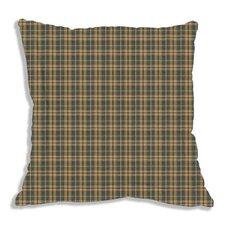 Golden Brown Plaid Fabric Sham