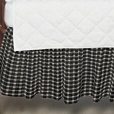 Cream and White Gingham Checks Fabric Crib Dust Ruffle