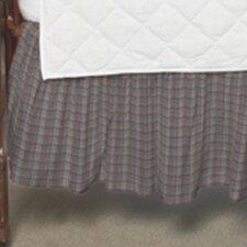 Plaid Fabric Crib Dust Ruffle