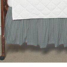 Blue Sky and White Gingham Checks Fabric Crib Dust Ruffle