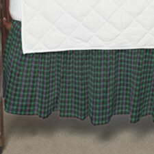 Green Tartan Plaid Fabric Crib Dust Ruffle