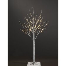 "40"" Silver Artificial  Birch Christmas Tree with 36 LED"