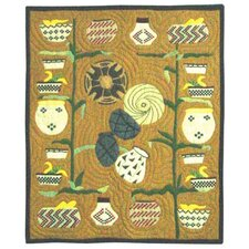 Indian Baskets Cotton Throw Quilt