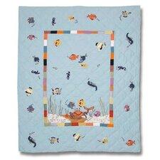Kids Aquarium Crib Quilt