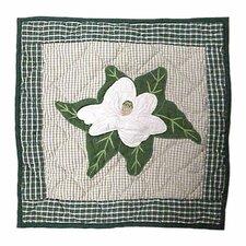 Magnolia Blossoms Cotton Throw Pillow