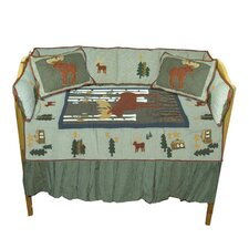 Moose 6 Piece Crib Bedding Set
