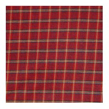 Red - Rustic Plaid and Black Lines Cotton Bed Curtain Panels (Set of 2)