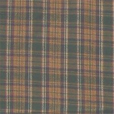 Green Gold Plaid Cotton Bed Curtain Panel