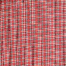 Red Plaid and Green Black Lines Cotton Curtain Panels (Set of 2)