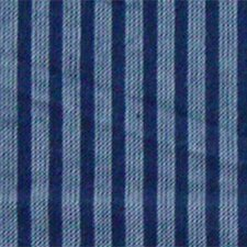 "Blue and Horizontal White Stripes 54"" Curtain Valance"