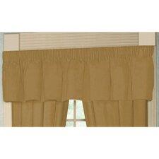 "Brown Light / Golden Chambray Rod Pocket 54"" Curtain Valance"