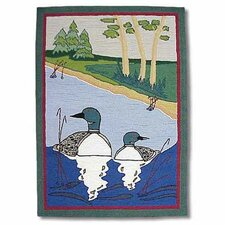 Loon Green Kids Rug