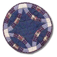 Blue Double Wedding Ring Placemat