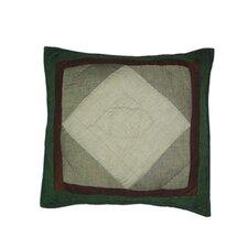 Bear Trail Patchwork Cotton Throw Pillow