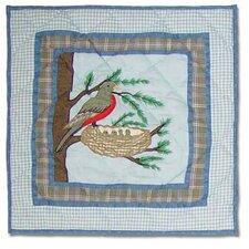 Songbirds Cotton Throw Pillow