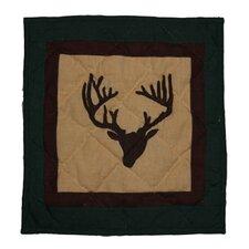 Deer Trail Cotton Throw Pillow
