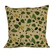 Leaf Flower Cotton Throw Pillow