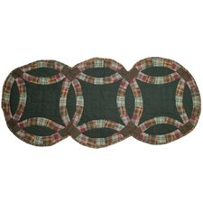 Green Double Wedding Ring Table Runner