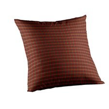 Shadow riders Rustic Plaid and Lines Cotton Throw Pillow