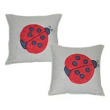 Ladybug Cotton Throw Pillow (Set of 2)