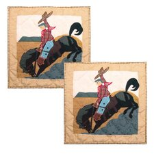 Brand and Rider Cotton Throw Pillow (Set of 2)