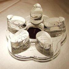 Leaf Shaped Glass Tea Warmer