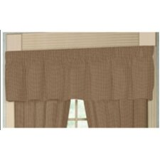 """Brown and Golden Checks 54"""" Curtain Valance"""