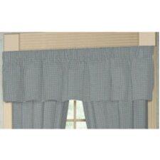 "Blue Sky and White Gingham Checks Rod Pocket 54"" Curtain Valance"