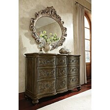 Jessica Mcclintock Boutique 9 Drawer Dresser with Mirror