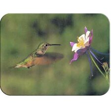 Tuftop Hummingbird and Columbine Cutting Board