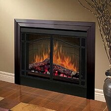 "Electraflame 39"" Built-in Electric Firebox with Glass Door and Trim"