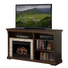 Edgewood TV Stand with Electric Log Fireplace