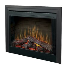 """Electraflame 33"""" Built-in Electric Firebox with Glass Door and Trim"""