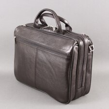 Ultimate Traveler Leather Laptop Briefcase