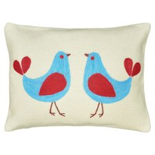 Twin Bird Wool Felt Lumbar Pillow