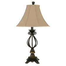 "Poly 31.25"" H Table Lamp with Bell Shade"