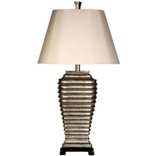 "Ribbed 32.5"" H Table Lamp with Empire Shade"