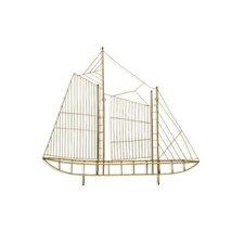 Sail Boat Metal Textual Art