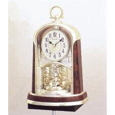 Woodgrain Spiral Clock