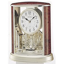 Woodgrain Teardrop Clock