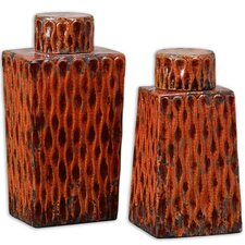 2-Piece Raisa Decorative Jar Set