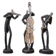 3 Piece Musician Figurine Set