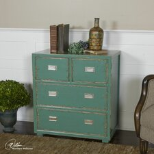 Aquias Hand-Painted 4 Drawer Accent Chest