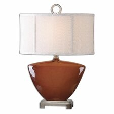 """Ceadda Rust 23.5"""" H Table Lamp with Drum Shade"""
