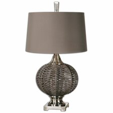 """Herodion 29.75"""" H Table Lamp with Drum Shade"""