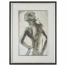"""Gesture Feminine"" by Liz Jardine Framed Print"